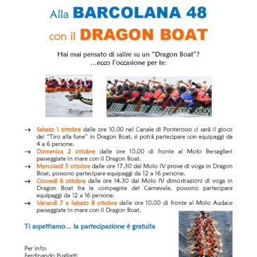Canoa-Kayak: Alla Barcolana in Dragon Boat