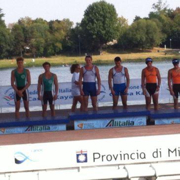 Canoa-Kayak: Brillante prestazione dei nostri atleti ai Campionati italiani di kayak