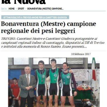 """Canottaggio: sulla """"Nuova Venezia""""… si parla di noi!! 👍🏻💪🏻"""