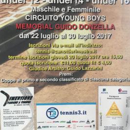 Tennis: Memorial Guido Donzella Under 12-14-16, programma e tabelloni aggiornati