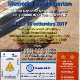 Tennis: Concluso il Memorial Paolo Bertan