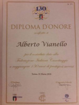 Canottaggio: al nostro Alberto Vianello conferito il Diploma d'Onore per il 130° anniversario della FederCanottaggio!!☘️👍💪
