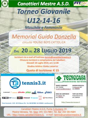 Tennis: Torneo Giovanile Memorial Guido Donzella