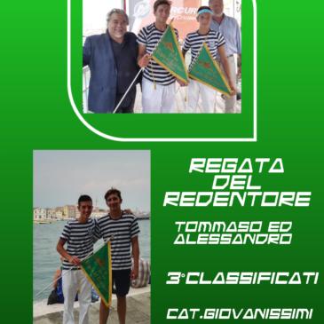 VOGA VENETA: bandiera verde per Alessandro e Tommaso alla Regata del Redentore!
