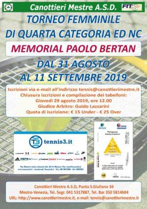 "Tennis: partito il ""Memorial Paolo Bertan"""