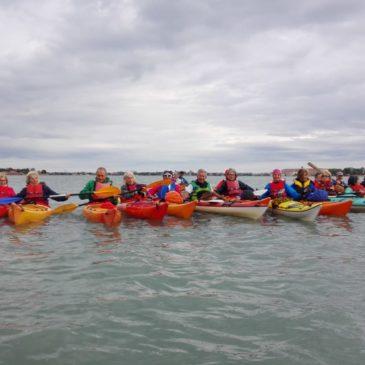 Canoa-kayak: In kayak al  Lazzaretto vecchio