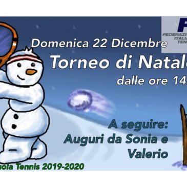 Tennis: Torneo di Natale