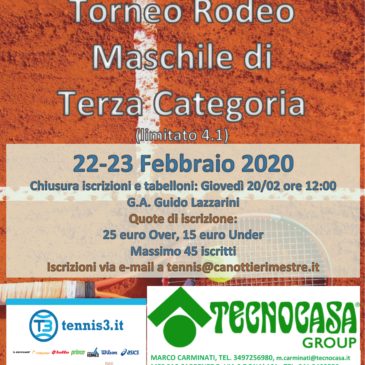 Tennis: Torneo Rodeo di Terza Categoria