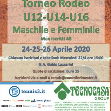 Tennis: Rinviato il Rodeo Under al 24, 25, 26 Aprile
