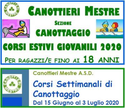 """Canottaggio: """"offerta doppia"""" per i Corsi Estivi 2020!!"""