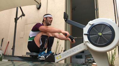"""Canottaggio: Sergio Chessari trionfa alla Italian Coop&Garofalo """"Home Race"""" 30′ Indoor Timelapse!!🥇☘️👍💪"""