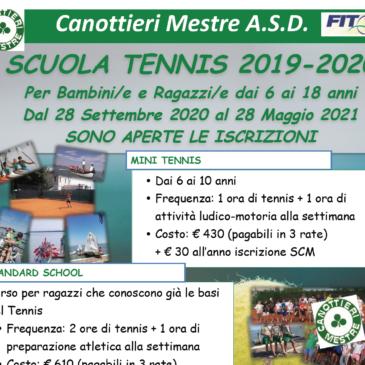 Scuola Tennis 2020-2021 e Prove Gratuite